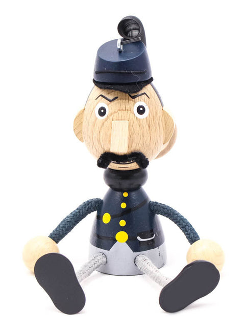 Union Soldier Handcrafted Wooden Jumpie