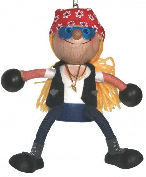 Harley Girl Handcrafted Wooden Jumpie