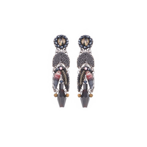 Moon Jet Krissa Earrings by Ayala Bar