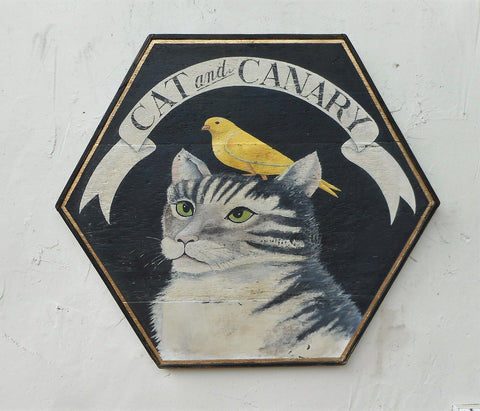 Cat and Canary Americana Art