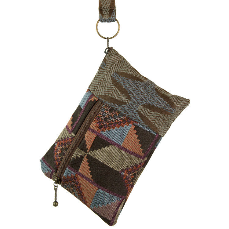 Maruca Beetle Wristlet in Quilt Earth