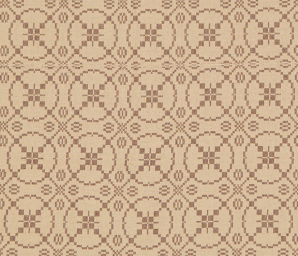 Curious Apprentice Long Table Runner in Brown with Beige
