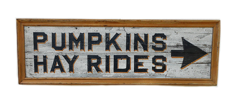 Pumpkins Hay Rides with Arrow Americana Art
