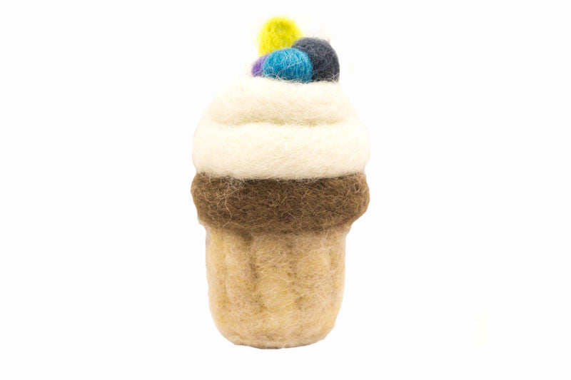 Cupcake Wool Ornament