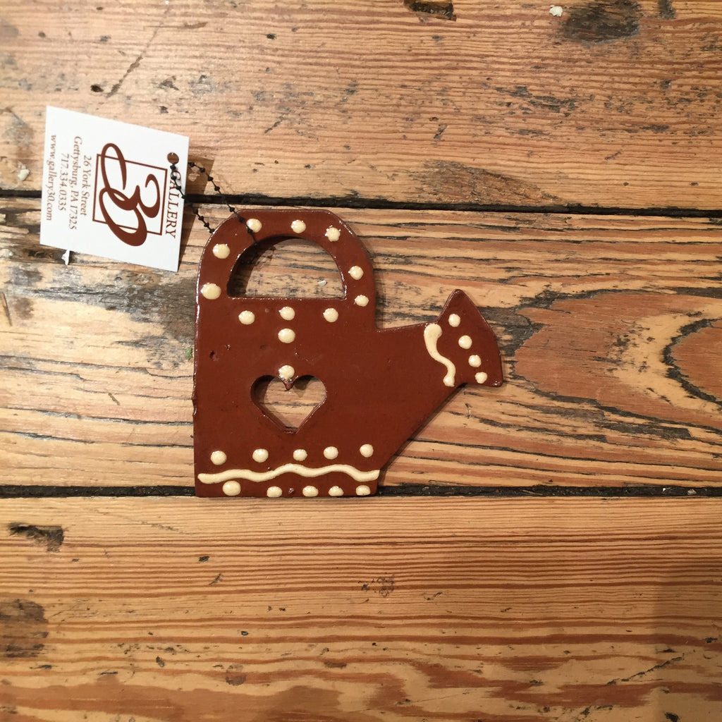 Brown Watering Can Ornament