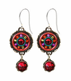 Padparadscha La Dolce Vita Small Round Earrings by Firefly Jewelry