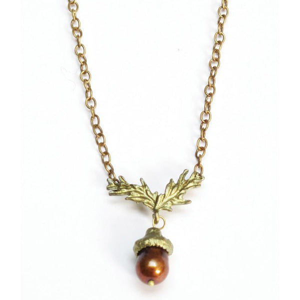 Acorn Chain Necklace by Michael Michaud