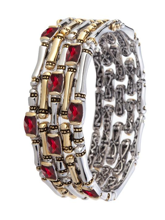 Cor Collection Five Row Hinged Bangle Bracelet by John Medeiros