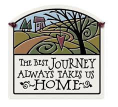 A Journey Takes Us Home Small Arch Ceramic Tile