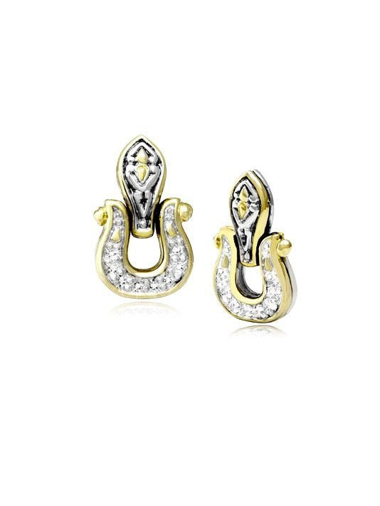 Horse Shoe Post Earrings by John Medeiros