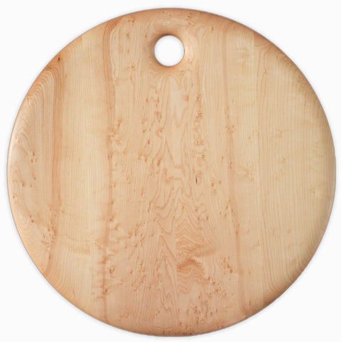 Bird's Eye Maple Round Breadboard - 16 inches