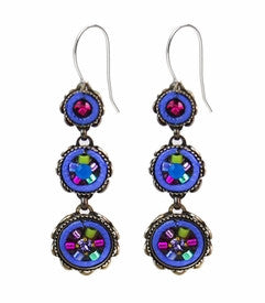 Tanzanite La Dolce Vita 3-Tier Earrings by Firefly Jewelry