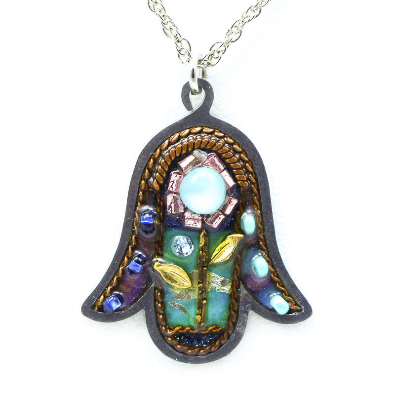 Nature's Glow Hamsa Necklace