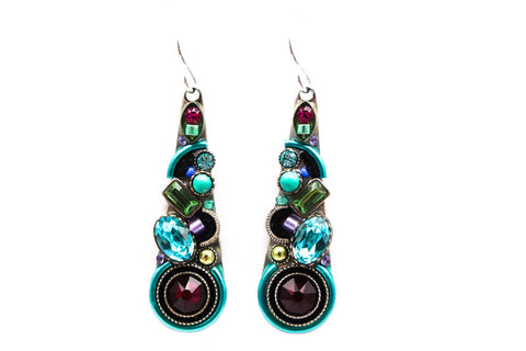 Light Turquoise Calypso Teardrop Earrings by Firefly Jewelry