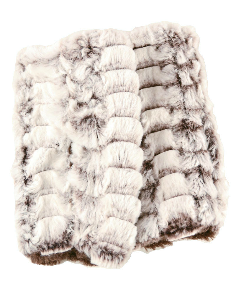 Snow Flurry Luxury Faux Fur Fingerless Gloves