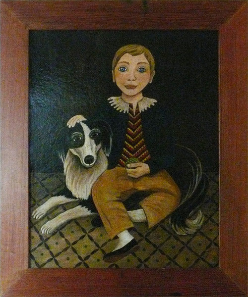 Boy with Dog by Susan Daul