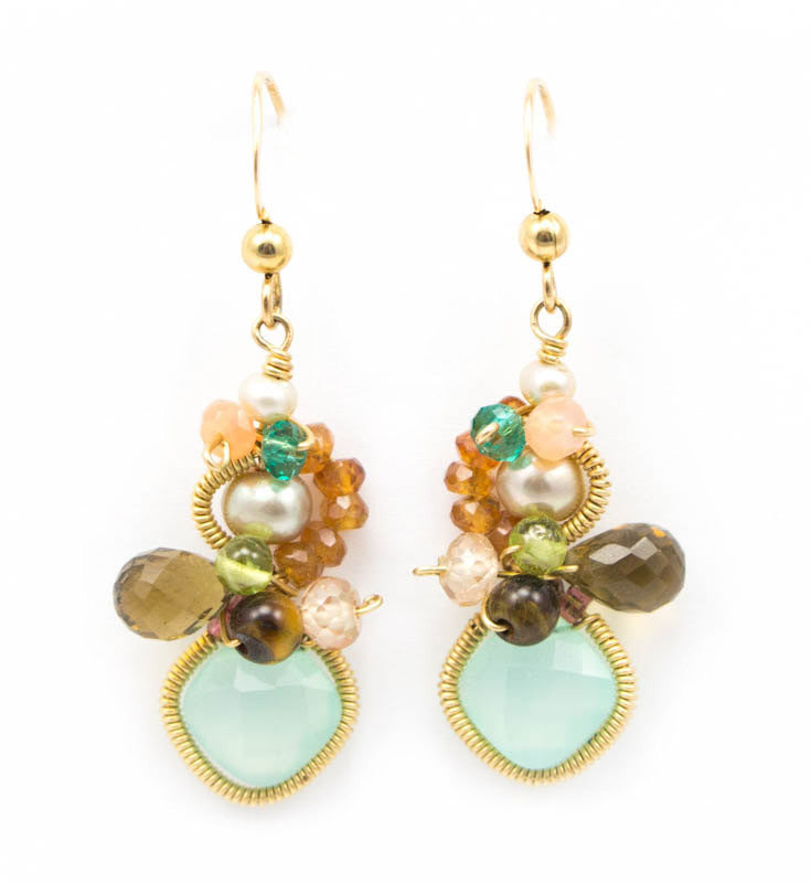 Baby Bella Chalcedony Earrings by Anna Balkan