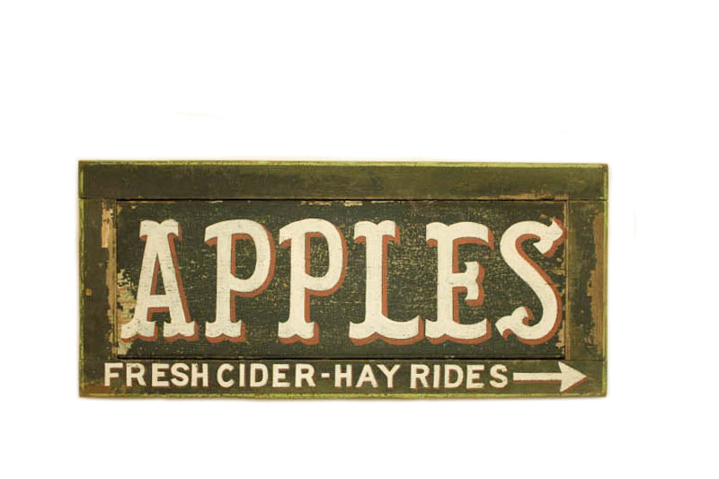 Apples, Fresh Cider, Hay Rides Americana Art