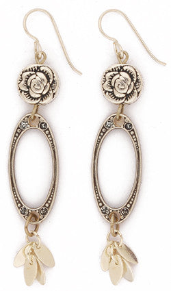 Metallic Rose Earrings by Desert Heart