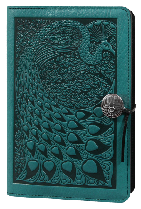 Peacock Large Journal in Teal
