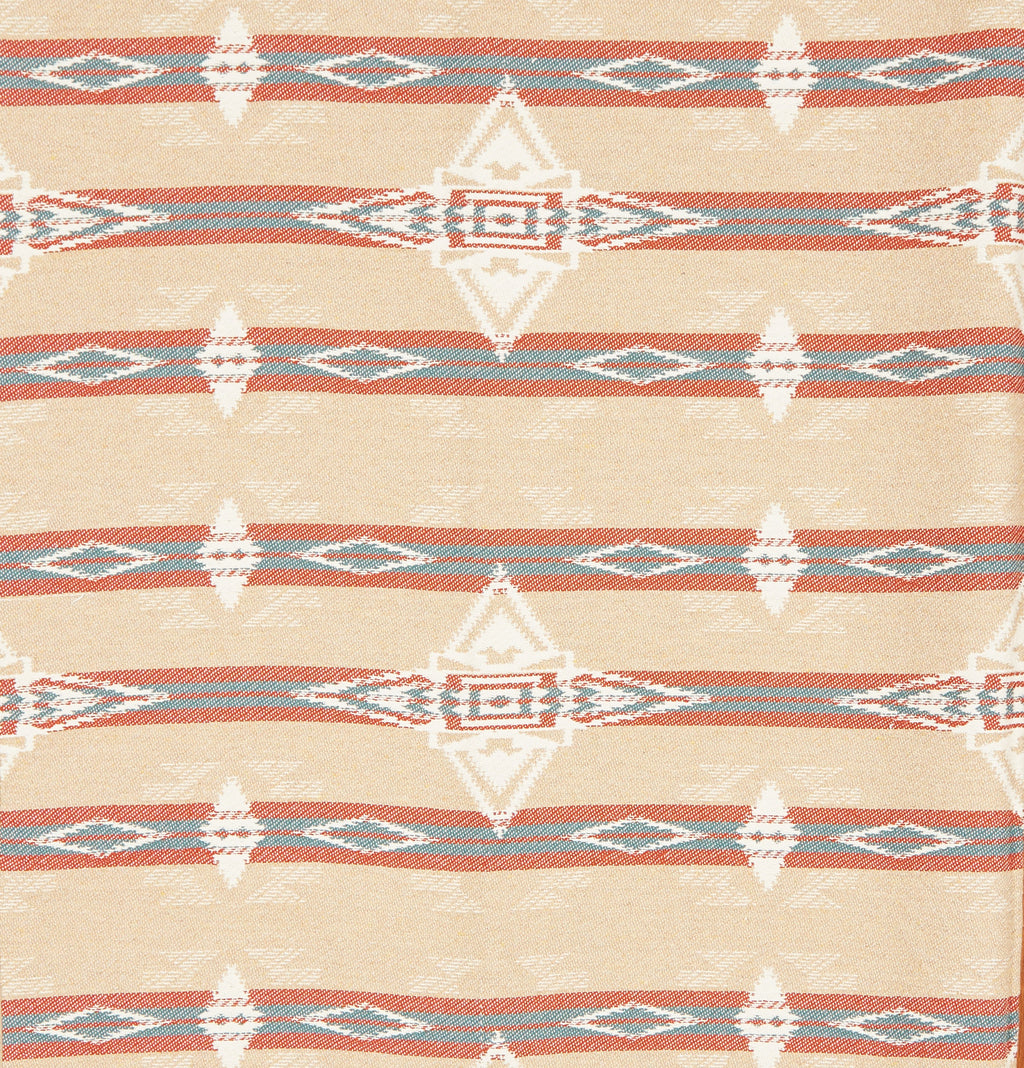 Navajo Throw in Jute, Sky and Rust