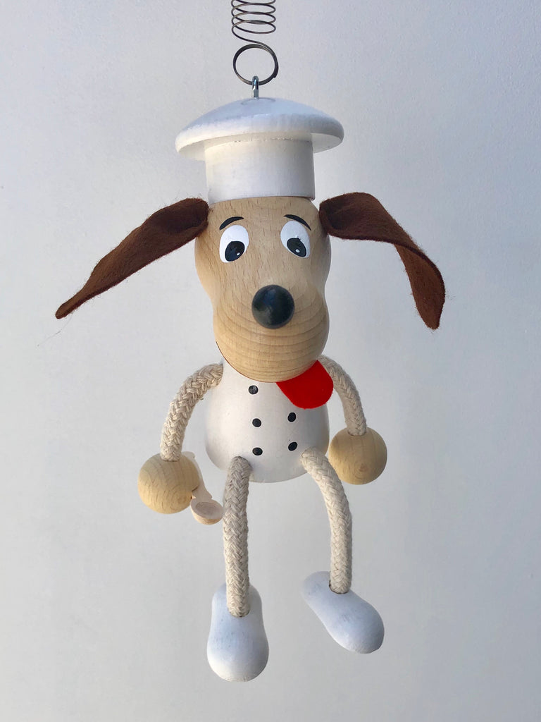 Dog Cook Handcrafted Wooden Jumpie