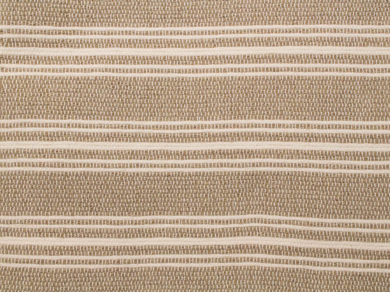 Acadian Stripe Runner in White and Khaki