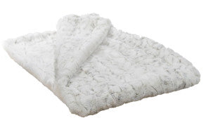 "Winter Frost Luxury Faux Fur Throw 58""x45"""