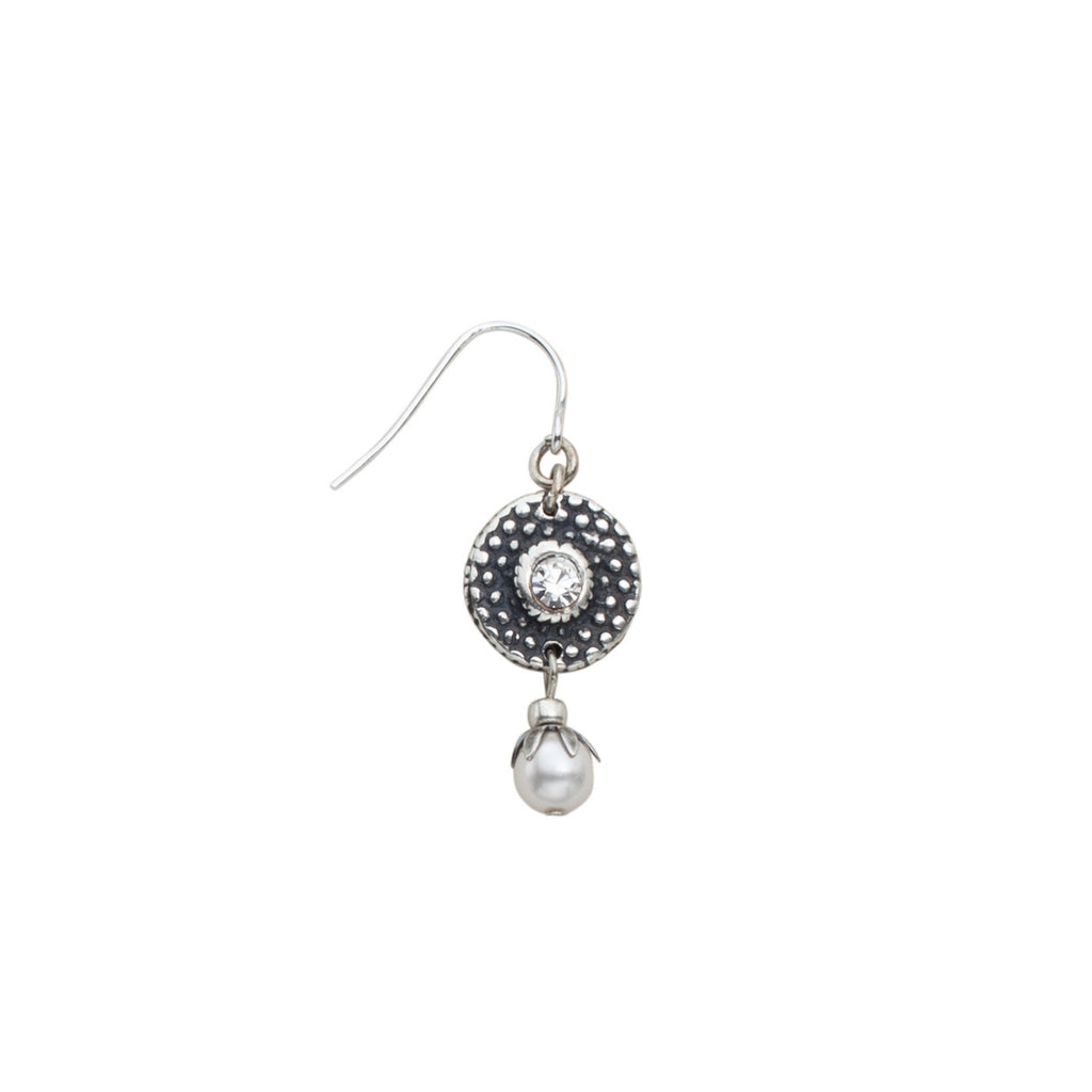 Earrings Paler Shade Of Grey by JoLa Collage
