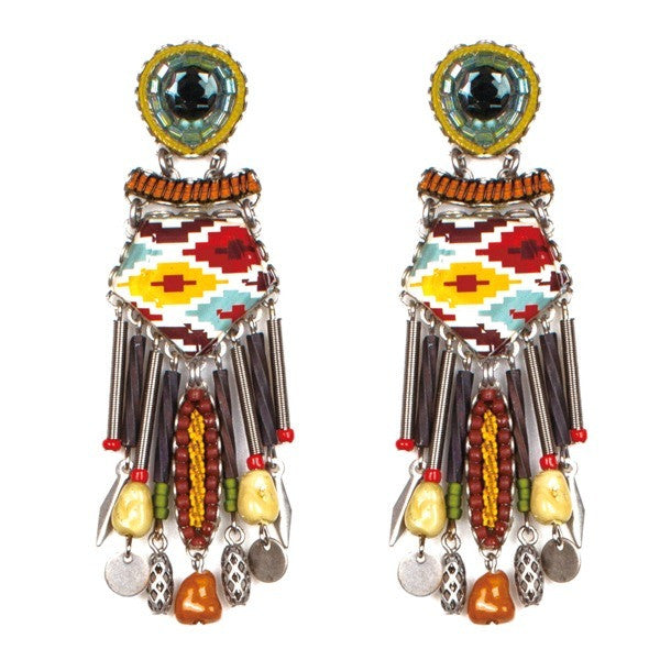 Navajo Princess Extra Large Classic Collection Earrings by Ayala Bar