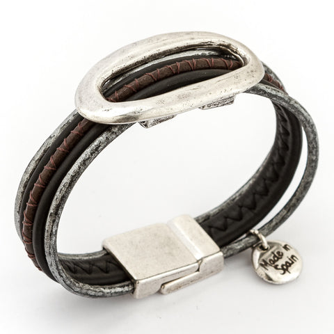 Delicate Sparkles Leather Bracelet