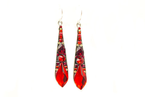 Red Gazelle Large Drop Earrings by Firefly Jewelry