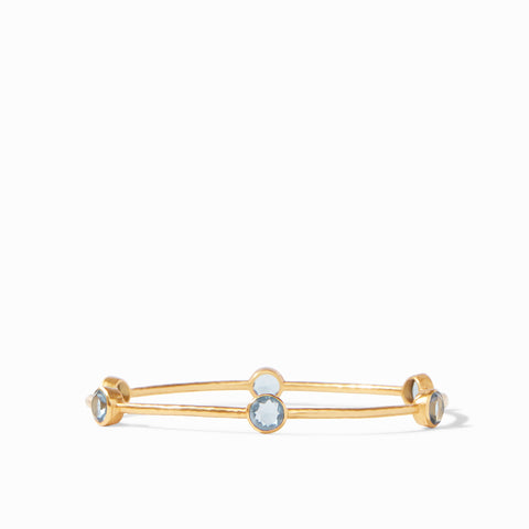 Milano Bangle Gold Clear Slate Blue - Medium by Julie Vos
