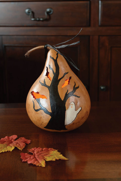 Fall Haunted Tree Gourd