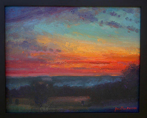 Afterglow from Base of Longstreet Tower by Jonathan Frazier