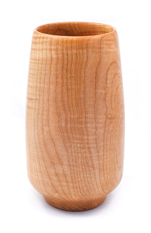 Blonde Flame Quilted Maple Vase
