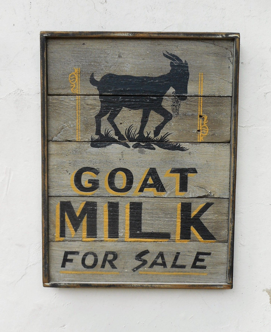 Goat Milk for Sale (with Goat Painting) Americana Art