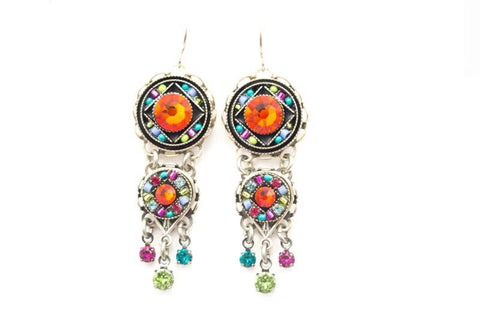 Multi Color Isabella Chandelier Earrings by Firefly Jewelry