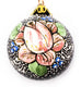 Rose Trim Lace Small Bulb Ceramic Ornament