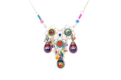 Multi Color Three Drops Light Necklace by Firefly Jewelry