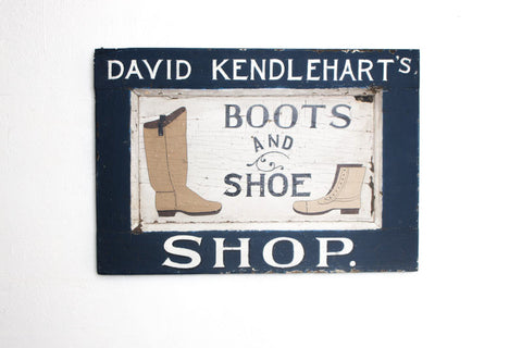 David Kendlehart's Boots and Shoe Shop Americana Art