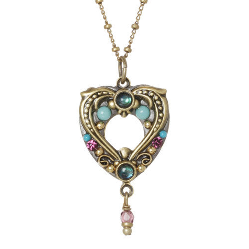 Turkish Bazaar Open Heart Necklace by Michal Golan