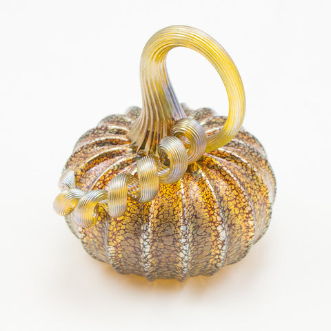 Handblown Glass Pumpkin in Moss