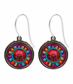 Padparadscha La Dolce Vita Round Earrings by Firefly Jewelry
