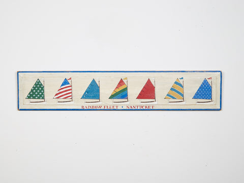 Rainbow Fleet Nantucket, Large Americana Art