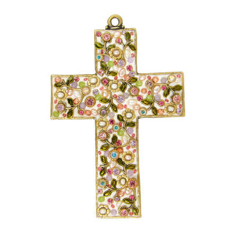 Pearl Blossom Large Cross by Michal Golan