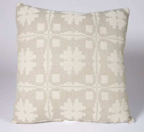 Fancy Snowballs Pillow in Wheat and Beige