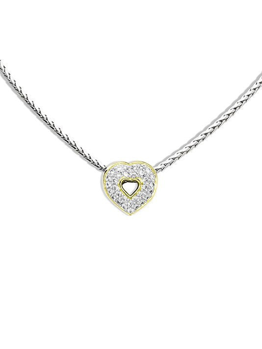 Heart Collection Pave Pendant with Chain by John Medeiros