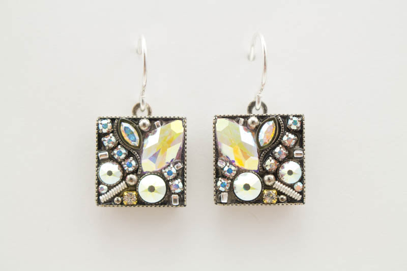 Aurora Borealis Luxe Medley Square Earrings by Firefly Jewelry