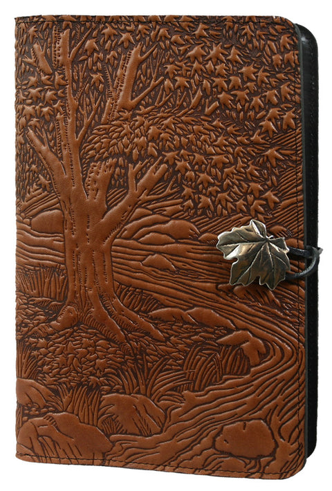 Small Leather Journal - Creekbed Maple in Saddle